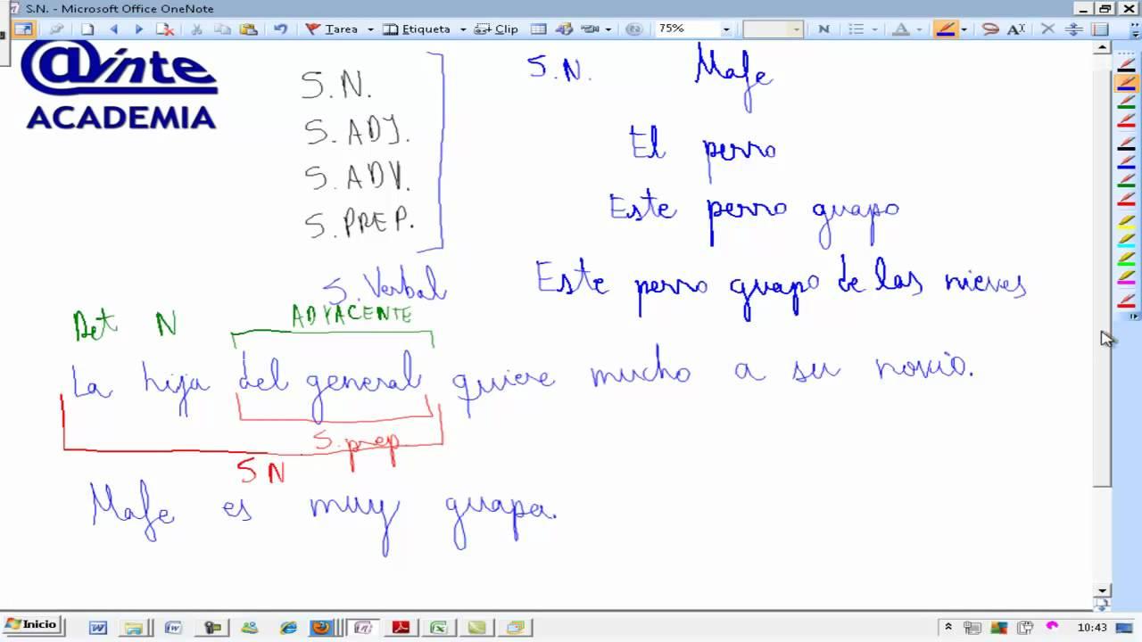 Division De Frases En Sintagmas Analisis Morfosintactico Lengua 3º Eso Ainte