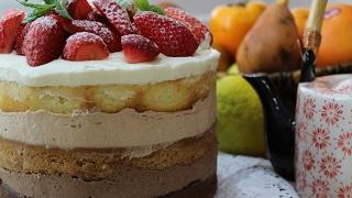 """Рецепт- Бисквитный торт """"Три шоколада"""""""
