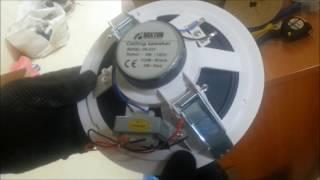 видео Громкоговорители потолочные подвесные