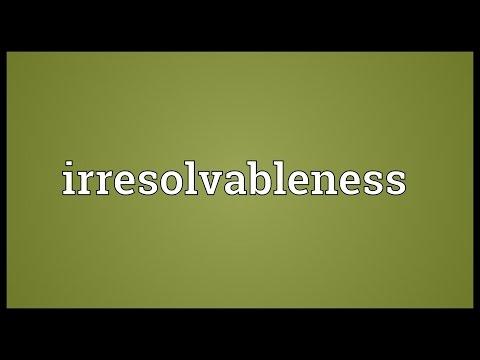 Header of irresolvableness