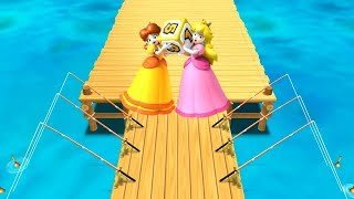 Mario Party 9 - Step It Up - Peach vs Daisy Gameplay | Mario Party 9 All Mini-Games