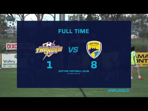 R5 NPLW: SWQ Thunder v Gold Coast United