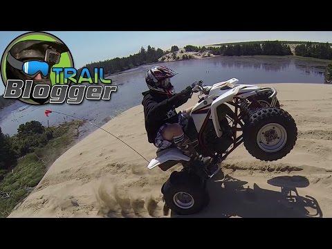 ATV Riding in Sand Dunes PART 2 EXTENDED VERSION YFZ450 Banshee 350 four wheeler Blaster 200 Hero 3