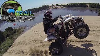 ATV Riding in Sand Dunes PART 2 EXTENDED VERSION YFZ450 Banshee 350 four wheeler Blaster 200 Hero 3