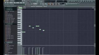 How To Make A Simple Rap Beat Using FL Studio Tutorial In HD (Part 1) - Gary Hall Beatz