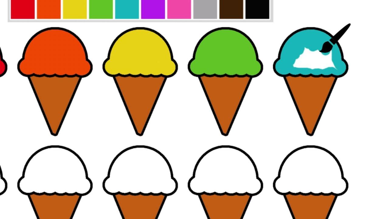 Boyama Kitabı Dondurmaları Boyayarak Renkleri öğreniyoruz Youtube