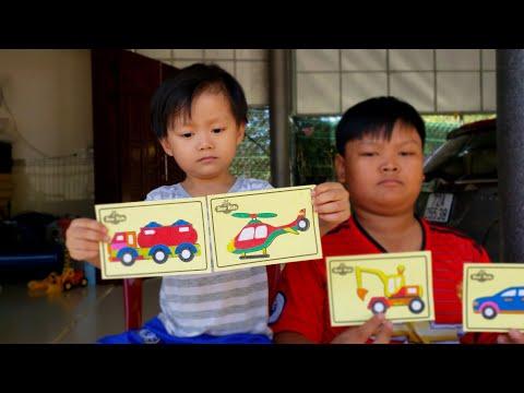 Đồ chơi trẻ em ❤️ Tin siêu còi, tô bộ tranh cát màu, phương tiện giao thông ❤ Kids Toy BeNo