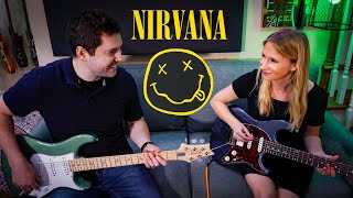 Teaching my wife the first Nirvana song everyone learns