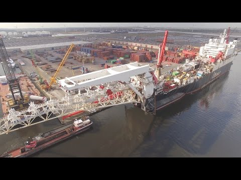 Allseas Solitaire by Drone Largest Pipelay Vessel