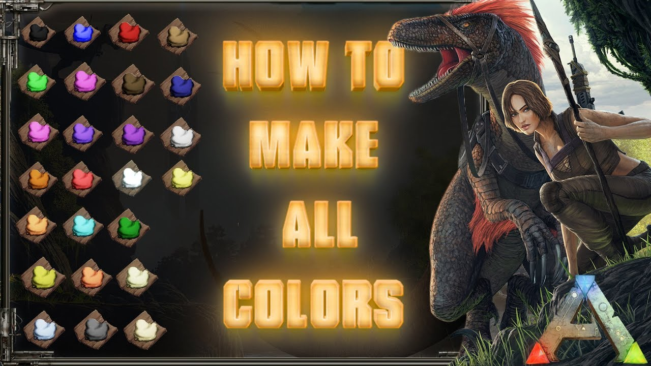 How to make all the colors dyes in ark se tutorial pc xbox how to make all the colors dyes in ark se tutorial pc xbox ps4 malvernweather Image collections