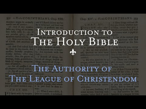 The Authority of the League of Christendom