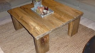 Make Coffee Table From Reclaimed Wood
