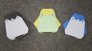 Gấp Con Chim Cánh Cụt Siêu Cute    Origami Cute Penguin