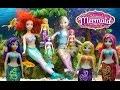 Robo Fish MAGICAL MERMAIDS Frozen Elsa Ariel little Mermaid dolls tails swim in water kids toys