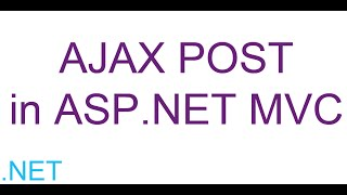AJAX POST in ASP.NET MVC