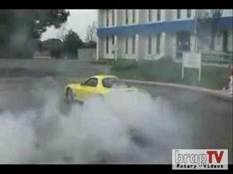 Mazda RX7 Nice Burnout Mp3