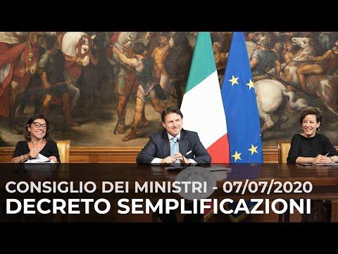 Dl Semplificazioni, conferenza stampa del Presidente Conte