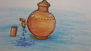 How to draw a water pot (very easy )