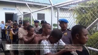 VIDEO Ratusan Polisi Dan BNNK Serbu Rutan Dan Lapas