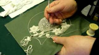 Irish Crochet Lace Demonstration by Nora Finnegan