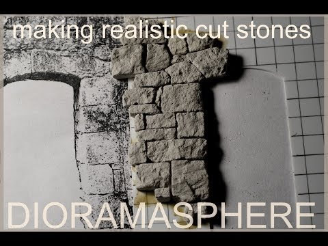 Making Realistic Cut Stones For Models - Dioramas - Vignettes and scale scenes