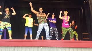 Team Rachel Zumba® Gold Stage Crew meet International Zumba Presenter Travis Algarin USA