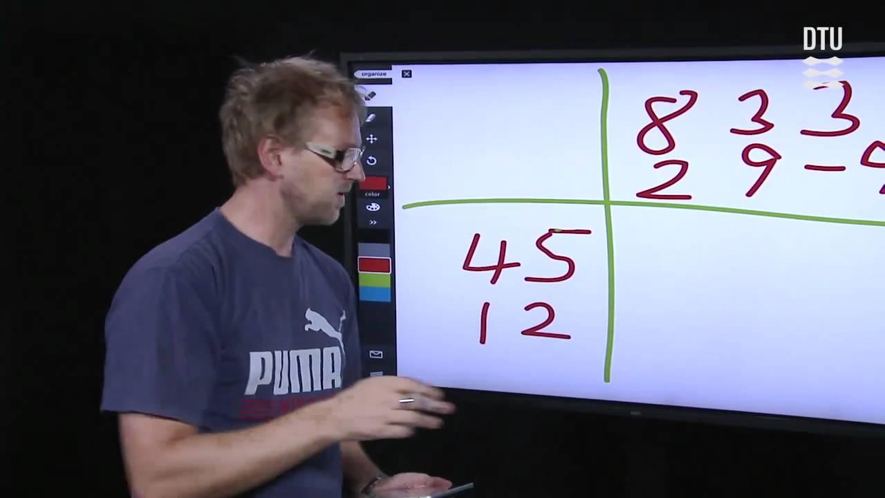Tip: Cowboytrick til matrixmultiplikation (Eksempel 3.9)