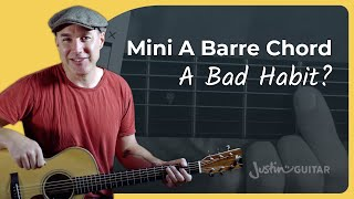 How to Play the A 'Mini Barre' Chord