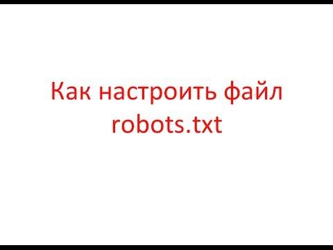 Robots.txt: как настроить файл robots.txt