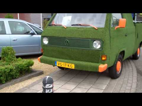 VERY GREEN VW d.c. crewcab 1.6 TD Transporter , 1990 .