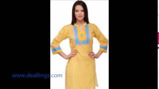 Women Printed Kurti India - Online Store