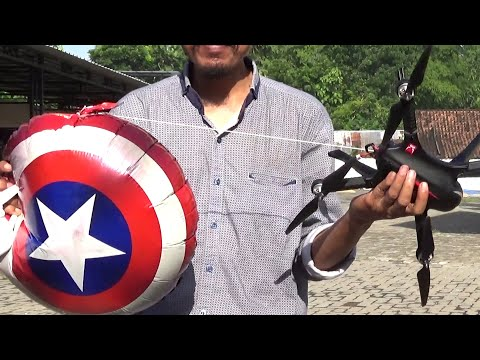 🔴-eksperimen-drone-tarik-🎈-captain-america-balon-karakter-musik-👍-instrument-on-my-way