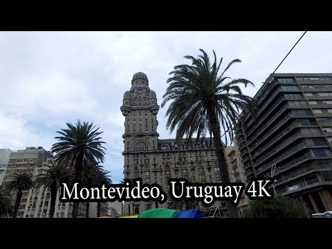 (1/2) 4K Walking (caminar) in Centro Montevideo, Uruguay Oct 2016