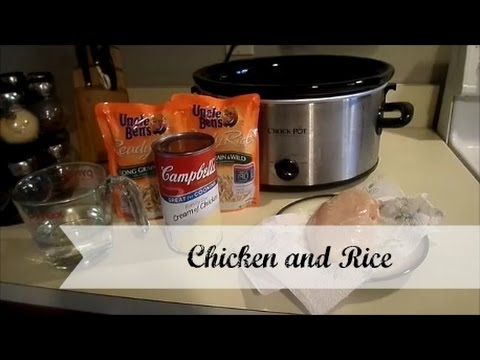 Crock Pot Cooking! {chicken And Rice}