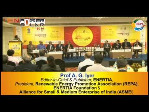 SEFI under the aegis of REPA & ENERTIA Foundation (Discussion Forum)-7th ENPOWER SOLAR 2014
