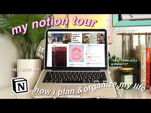 how to be productive & organized as a college student | notion tour 🧘🏻♀️