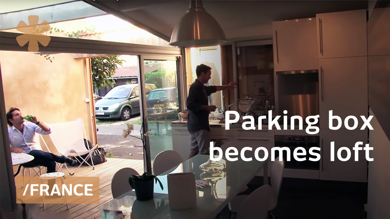 maison garage old parking as tiny home in bordeaux france youtube. Black Bedroom Furniture Sets. Home Design Ideas