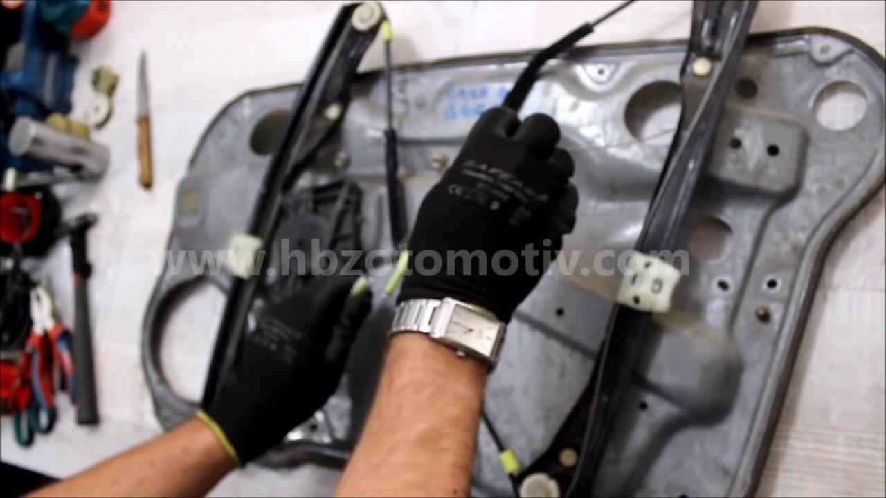 Vw golf 4 bora window regulator repair kit youtube for 2001 volkswagen passat window regulator