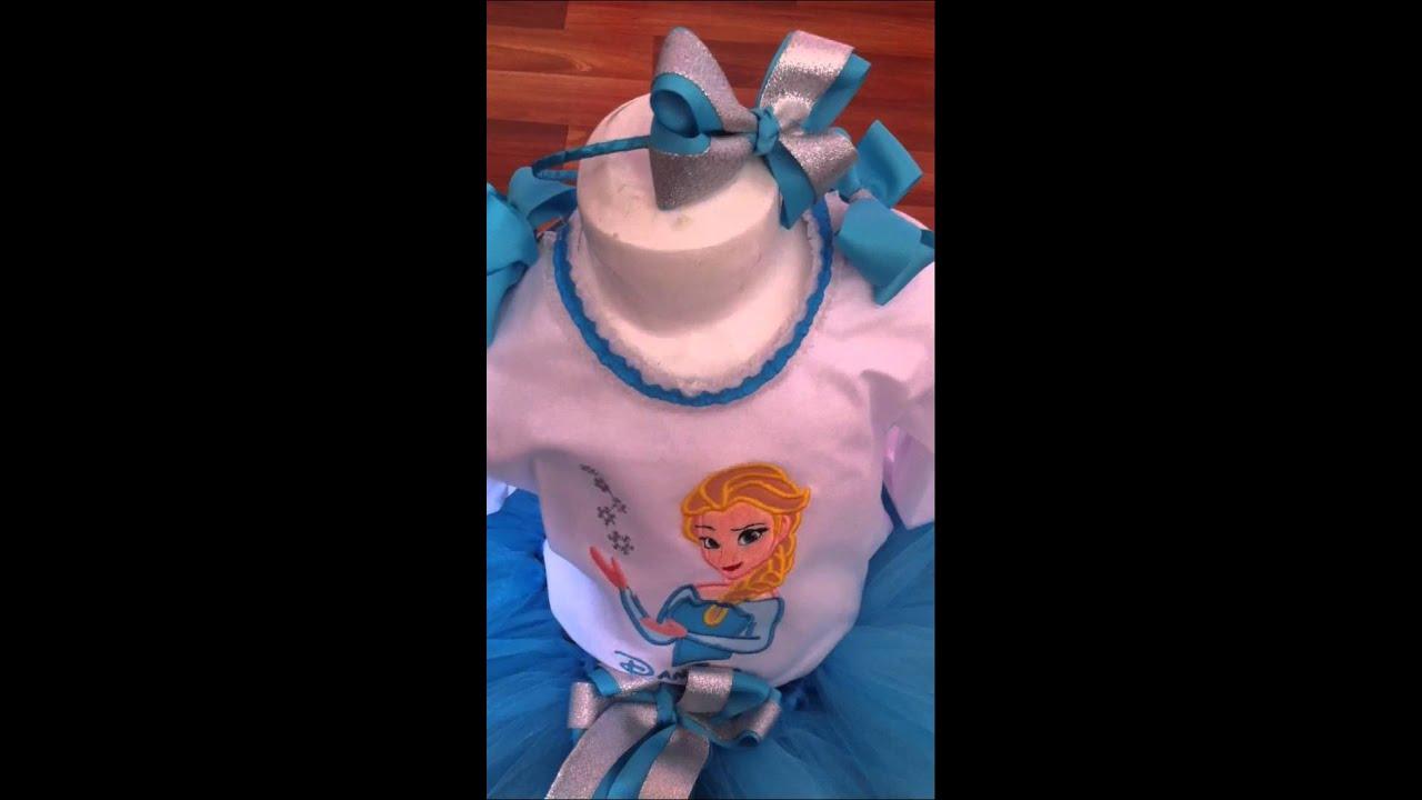 5363784054 Frozen elsa set Tutu diseño by Pekekids - YouTube