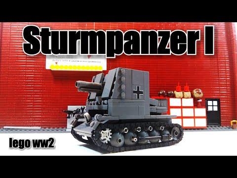 "LEGO Sturmpanzer I ""Bison"". Обзор + инструкция. Lego Tanks"