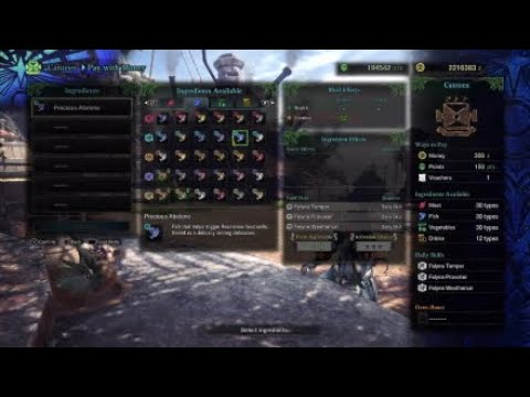 Mhw All Canteen Foods Showcase Youtube
