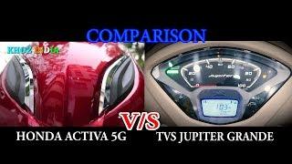 NEW HONDA ACTIVA 5G VS TVS JUPITER GRANDE COMPARISON