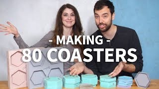 80 Concrete Coasters 👈 16 Silicone Molds 👈 8 CNC Master Models