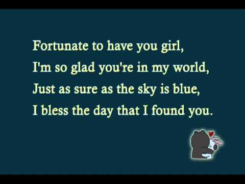 Maxwell   fortunate lyrics)
