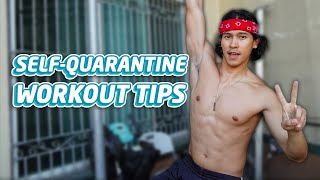 EXERCISES YOU CAN DO WHEN YOU'RE STUCK AT HOME (QUARANTINE WORKOUT ROUTINE) | Enchong Dee