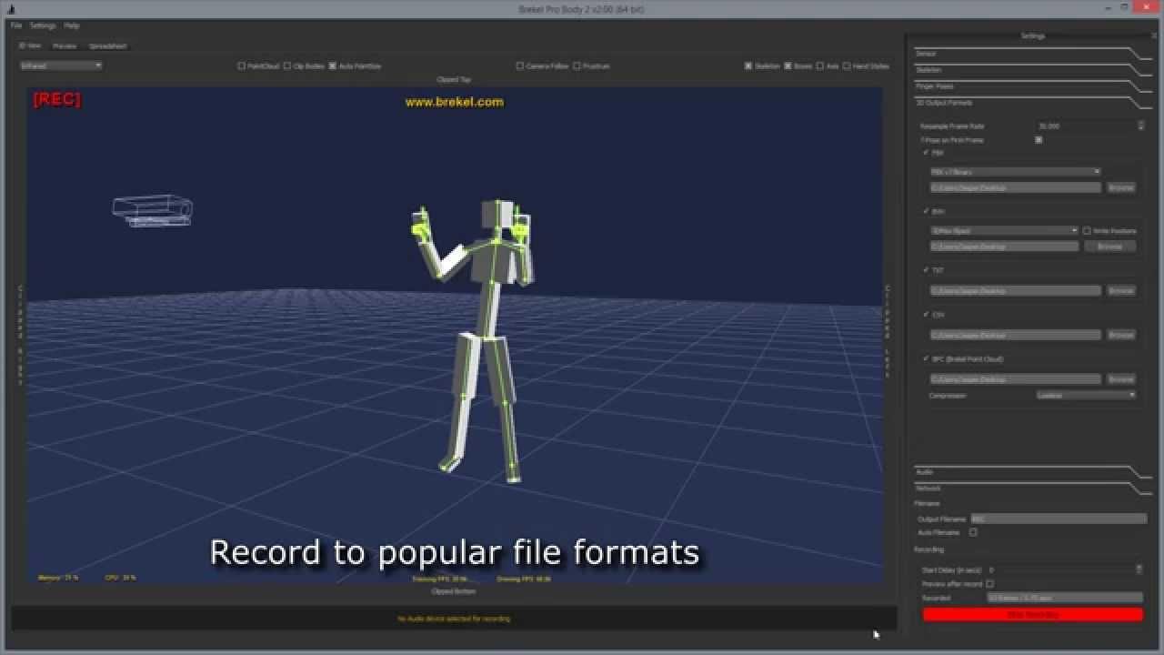 Brekel Kinect Pro Body v2