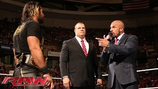 Kane interrupts Triple H: Raw, April 20, 2015