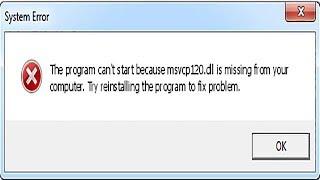 CZ_ msvcp120 dll chybí stažení zdarma  - jak nainstalovat a opravit msvcp120 dll chybí