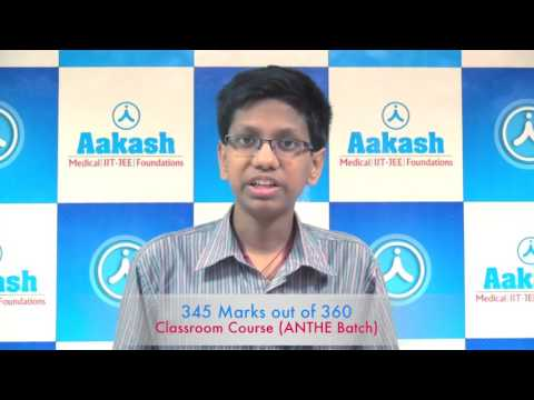 Aakash Top Performer: JEE Main 2017 AIR 6 - V. Mohan Abhyas