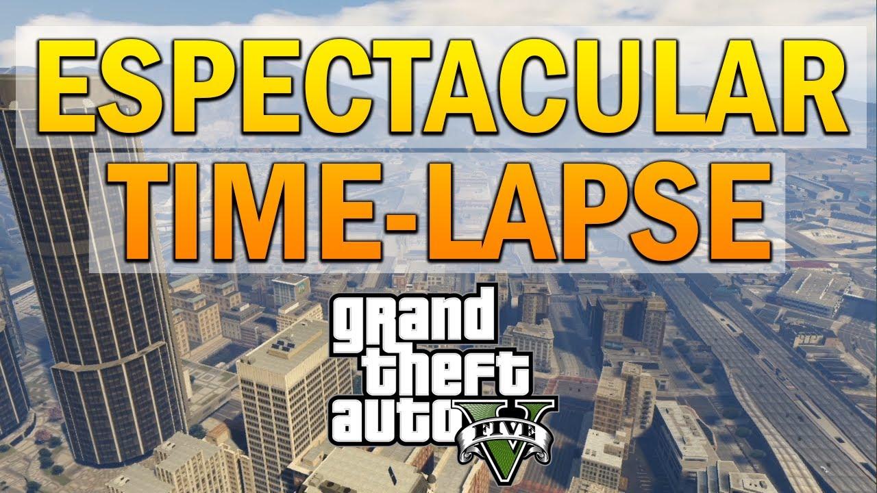GTA 5: ESPECTACULAR Time-Lapse. 24h en Los Santos